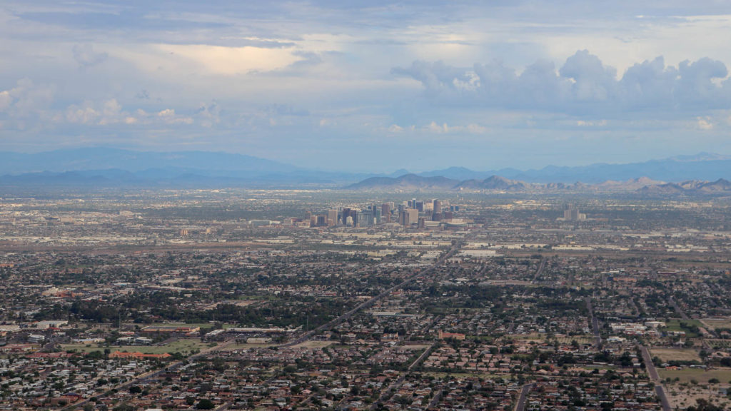 picture of phoenix from dobbins lookout