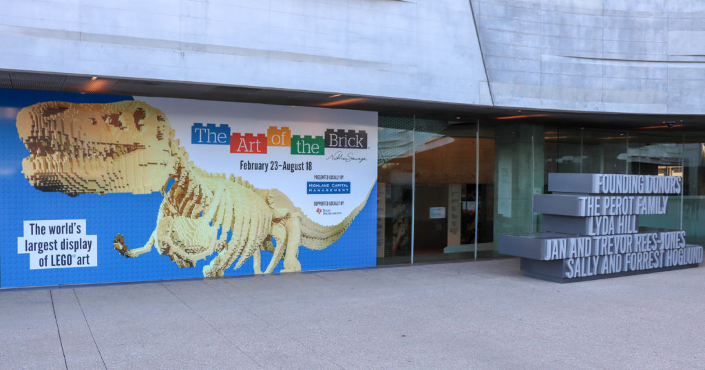Picture of the Perot Museum Art of the Brick banner