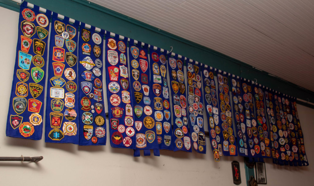 picture of dallas firefighter museum patch wall