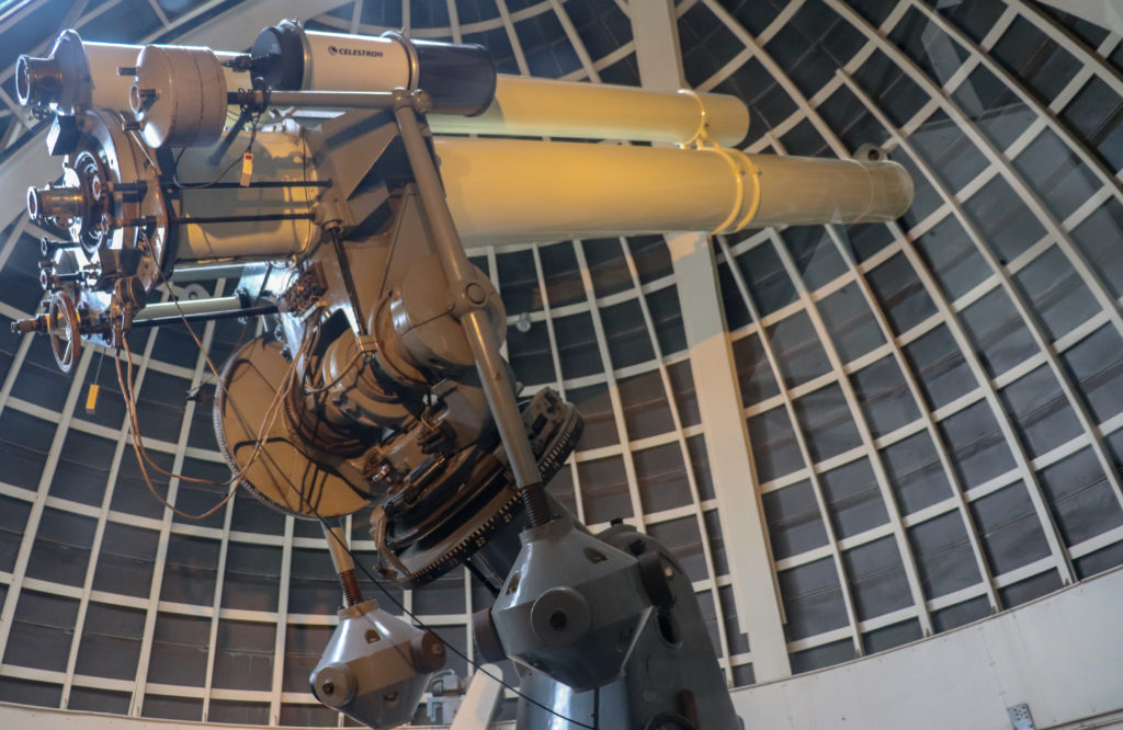 picture of a celestron telescope at the Griffith observatory