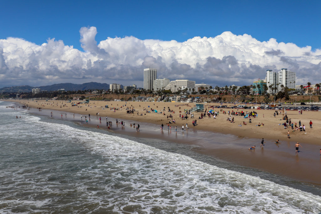 picture of santa monica state beach
