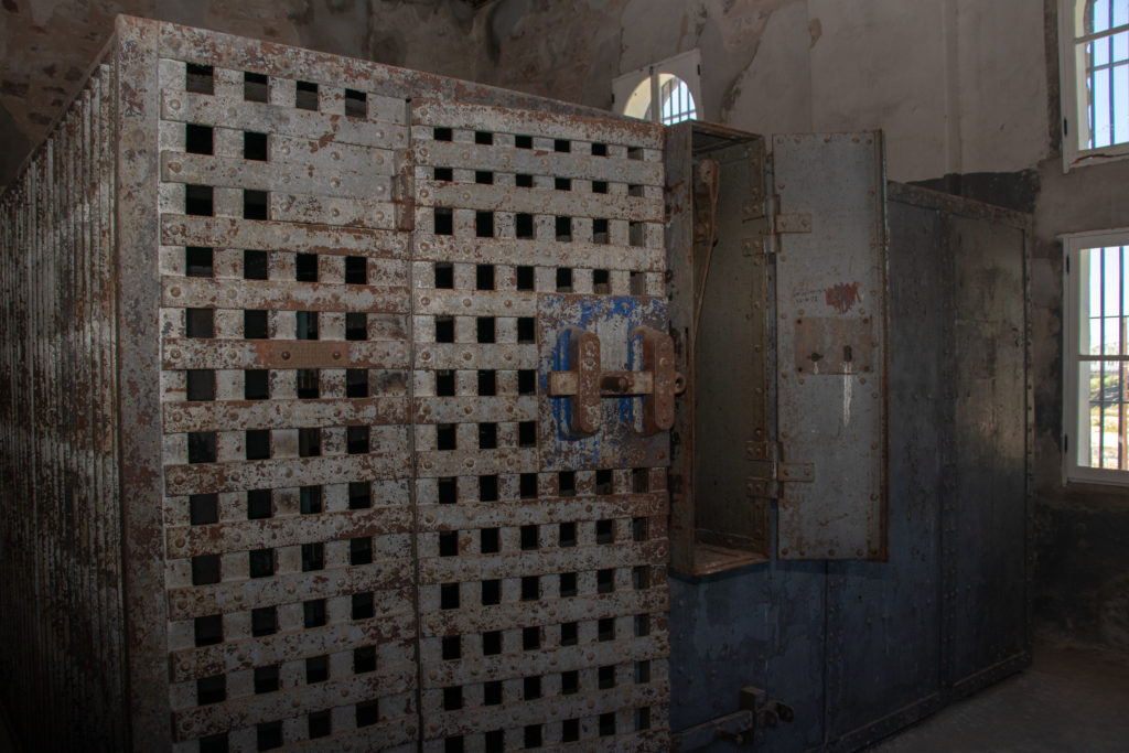 picture of red top jail cells