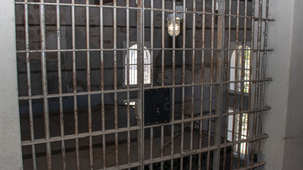 picture of old red top jail cell