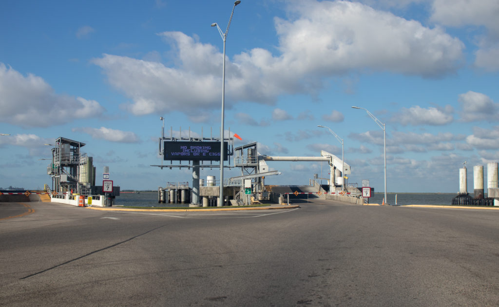 picture of galveston ferry dock
