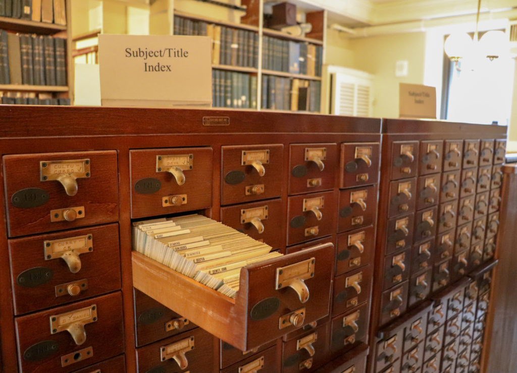 picture of peabody library catalog