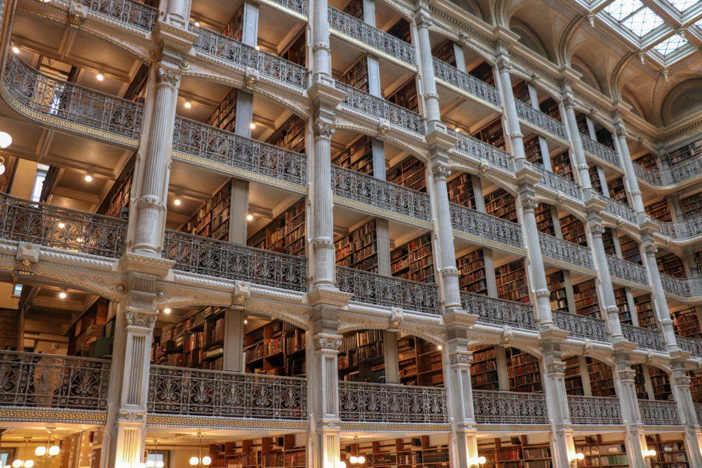 picture of peabody library interior
