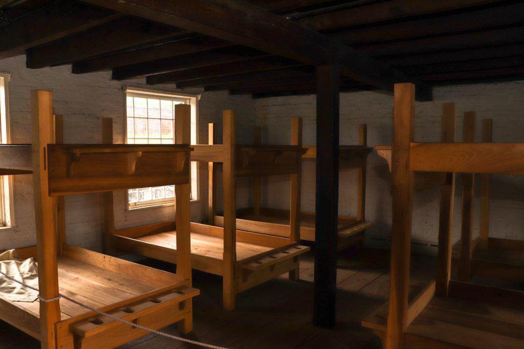 picture of Fort McHenry sleeping quarters