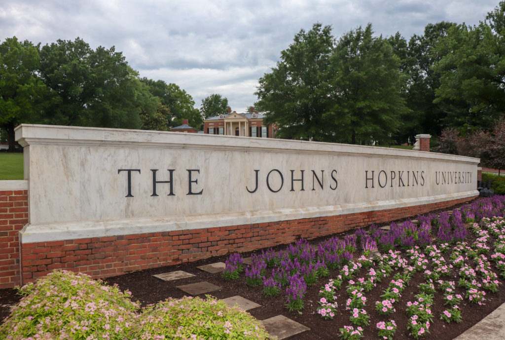 picture of Johns Hopkins University entrance