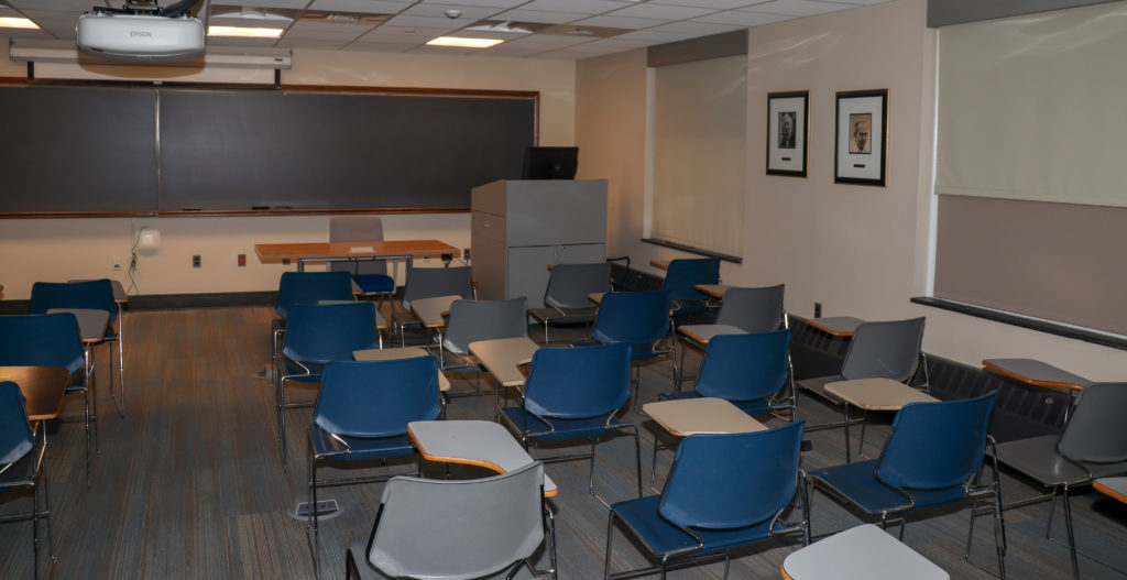 picture of Johns Hopkins University classroom