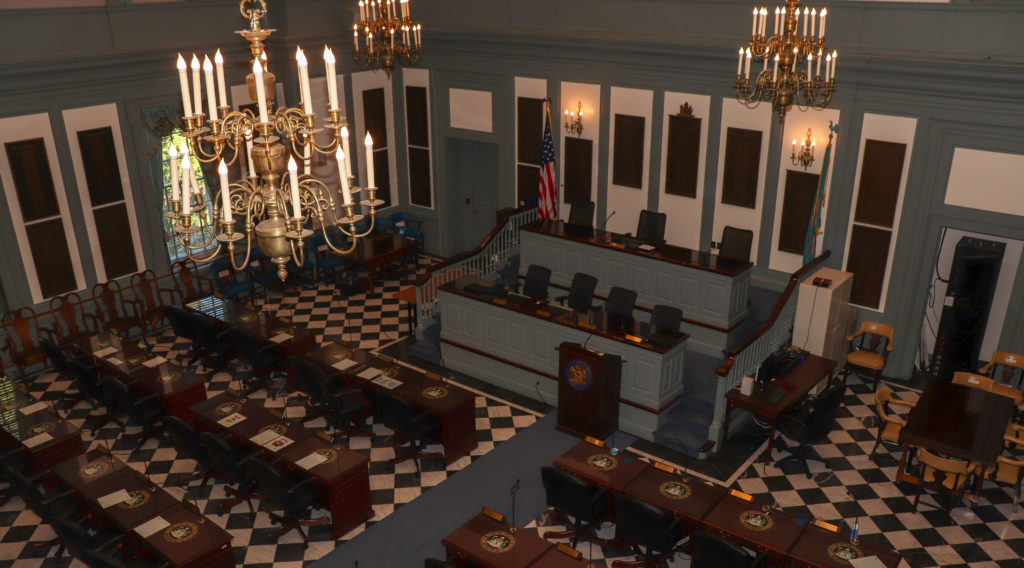 picture of Delaware House chamber