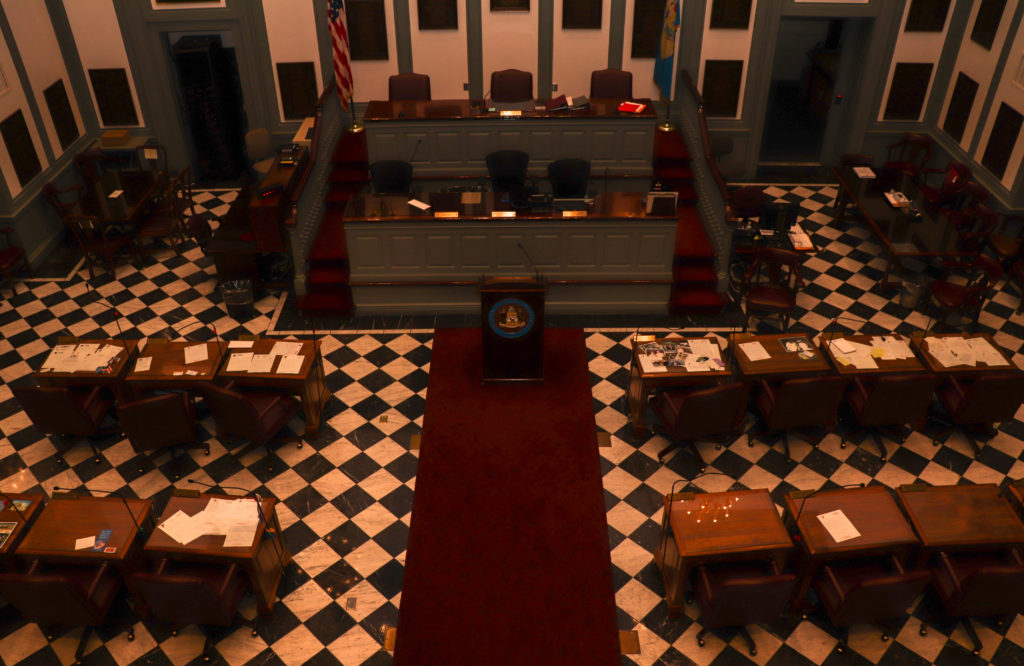 picture of Delaware Senate chamber